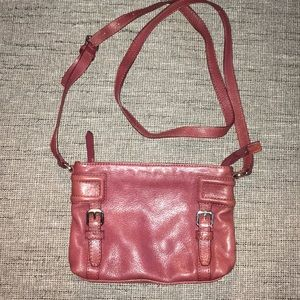 Cole Haan maroon Burgundy small leather crossbody
